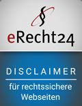 eRecht24 Disclaimer für rechtssichere Webseiten