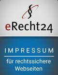 eRecht24 Impressum für rechtssichere Webseiten